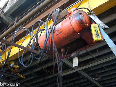 Series Cm662monitor 3-ton Cable Hoist W16 Ft Beam