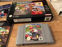 Mario Kart 64 boxed immaculate condition like brand new