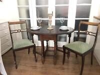 VINTAGE TABLE + CHAIRS FREE DELIVERY LDN🇬🇧