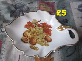 Crown Devon Leaf Shaped Dish