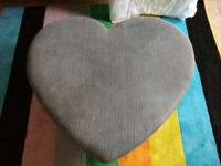 Heart Shaped Footstool or Coffee Table
