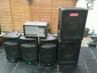 Behringer pro mixer 2000 plus speakers