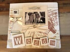 Scrapbook album - wedding themed (brand new unused)