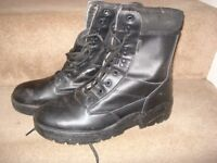 MENS BRAND NEW BLACK LEATHER BOOTS SIZE13 £10
