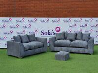 🤍💛💗Brand New Dylan Premium Fabric 3+2 / Corner Sofa / Swivel Chair / Footstool