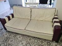 4 seater leather sofa settee