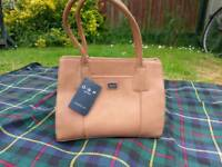 Osprey brand new brown leather handbag