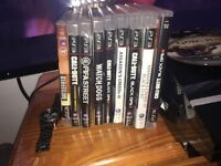 Ps3 with 13 games Bluetooth headphones