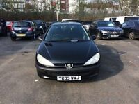Peugeot 206 5 Door Hatchback 1.4 Petrol 2003 ( Exporters are welcome )