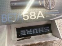 SHURE BETA 58A MIC BRAND NEW ( LOW STOCK )