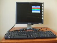 "Dell 15"" LCD Monitor and Keyboard"
