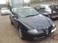 2004 Alfa Romeo 147 1.9 JTD M-Jet 16v BREAKING FOR PARTS SPARES 2 door blue