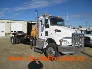 2011 Kenworth T370 4X4, PICKER + 20 Ft DECK!!!