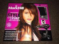 Mark Hill Salon Professional Black Style & Shine Power Hair Dryer