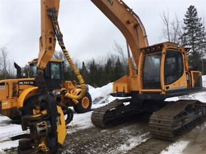 2015 Hyundai 220LC-9A High Walked Forestry Kit and H7 Harvesting
