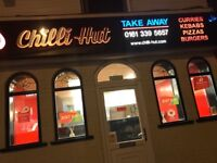 CHILLI HUT INDIAN TAKEAWAY FOR SALE