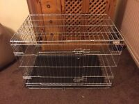 Portable Folding Dog Cage. As New.