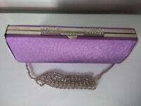 Lilac clutch/shoulder bag