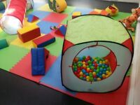 bright colourful soft play equipment