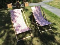 Two IKEA beach deck chairs