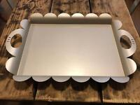Alessi Chrome Metal Tea Tray