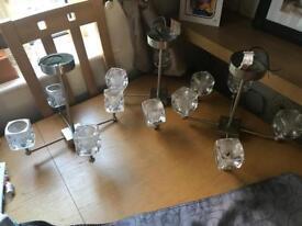 Set of three glass lights