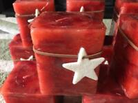 15 large square cinnamon scented candles job lot