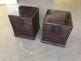 Pair of beautiful hardwood bedside chests