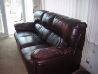 Brown Leather Sofa Settee 3 Seater from Leather Sofa Company
