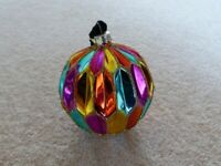Christmas multi-coloured Glass Baubles