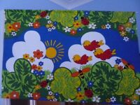 Decorative fabric wall hanging - children's room