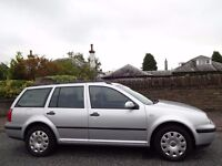 12 MONTH WARRANTY! (2006) VW GOLF 1.9 TDi ESTATE 130BHP One Owner- Genuine 50K Miles- FSH- Top Spec!