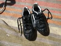 Black puma football boots. Size 1