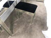 Mirrored stool chair --- for dressing table glass