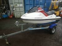 Jetski hull and trailer