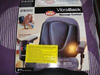 Back Messager Homedics Vibra Back Massage Cushion with heat.