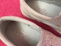 Next grey sparkle daps girls size 11