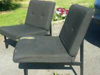 Two black chairs