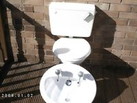 Bathroom Oval Hand Basin and FREE Toilet Pan and Cistern
