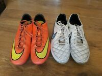 UK size 9 blade and metal stud Nike football boots