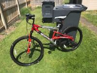 Men's Full Suspension Mountain Bike,Hardly Used & In Immaculate Condition