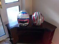 Two Crash Helmets