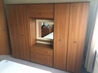 Schreiber Bedroom Set Two Double Wardrobe And Three Draw Dressing Table