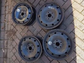 4x 16 inch steel wheels for reault magne 5 stud
