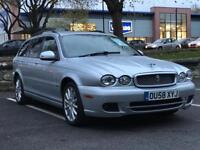 £1799!! XMAS SALE!! 2008 JAGUAR X TYPE DIESEL *FULL SERVICE HISTORY *MANUAL * LEATHERS *LMTD EDITION