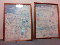 Superb original pine framed snowman 1986 prints.