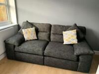 3 seater black sofa