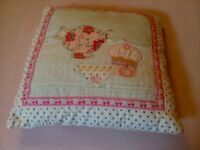 2 Pretty cushions, Lampshade and Long Door/Wall Hanging with 3 Pockets
