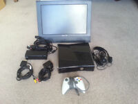 XBox 360 250Mb, games x 9, controller, headset, kinnect