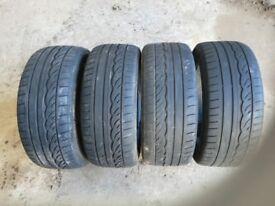 4 Dunlop 245/45/17 Runflat tyres.